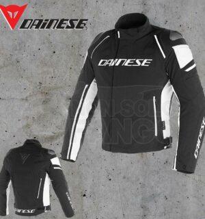 Giubbotto Dainese Racing 3 D-Dry Nero/Nero/Bianco