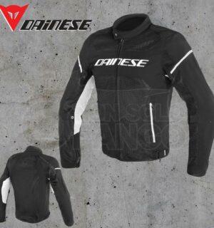 Giubbotto Dainese Air Frame D1 Tex Jacket Nero/Nero/Bianco