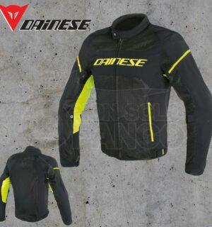 Giubbotto Dainese Air Frame D1 Tex Jacket Nero/Nero/Giallo Fluo