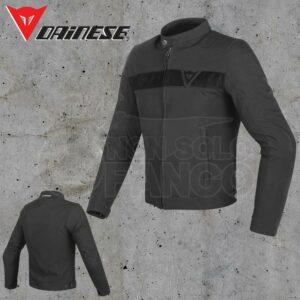 Giubbotto Dainese Stripes Tex Jacket Nero/Nero