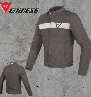 Giubbotto Dainese Stripes Tex Jacket Dark Brown/White