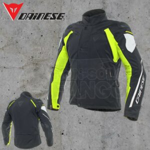 Giubbotto Dainese Rain Master D-Dry Jacket Nero/Glacier-Gray/Giallo Fluo