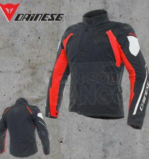 Giubbotto Dainese Rain Master D-Dry Jacket Nero/Glacier-Gray/Rosso
