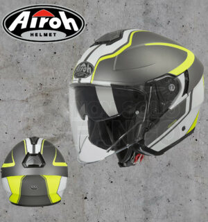 Casco moto Jet Airoh Soul Hunter Anthracite Matt Gloss