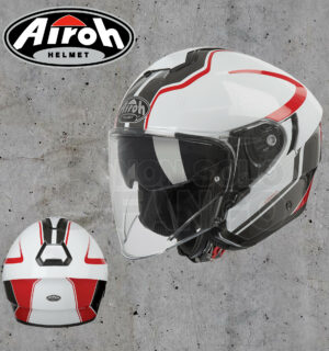 Casco moto Jet Airoh Hunter Soul White Gloss