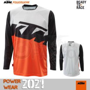 Maglia enduro KTM Power Wear 2021 Pounce Shirt Black