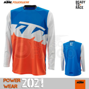 Maglia enduro KTM Power Wear 2021 Pounce Shirt Blue