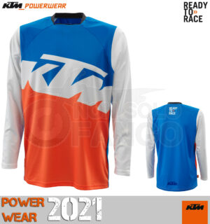 Maglia enduro KTM Power Wear 2021 Pounce Shirt Blue