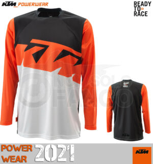 Maglia enduro KTM Power Wear 2021 Pounce Shirt Orange