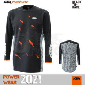 Maglia enduro KTM Power Wear 2021 Racetech Shirt Black