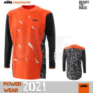 Maglia enduro KTM Power Wear 2021 Racetech Shirt Orange